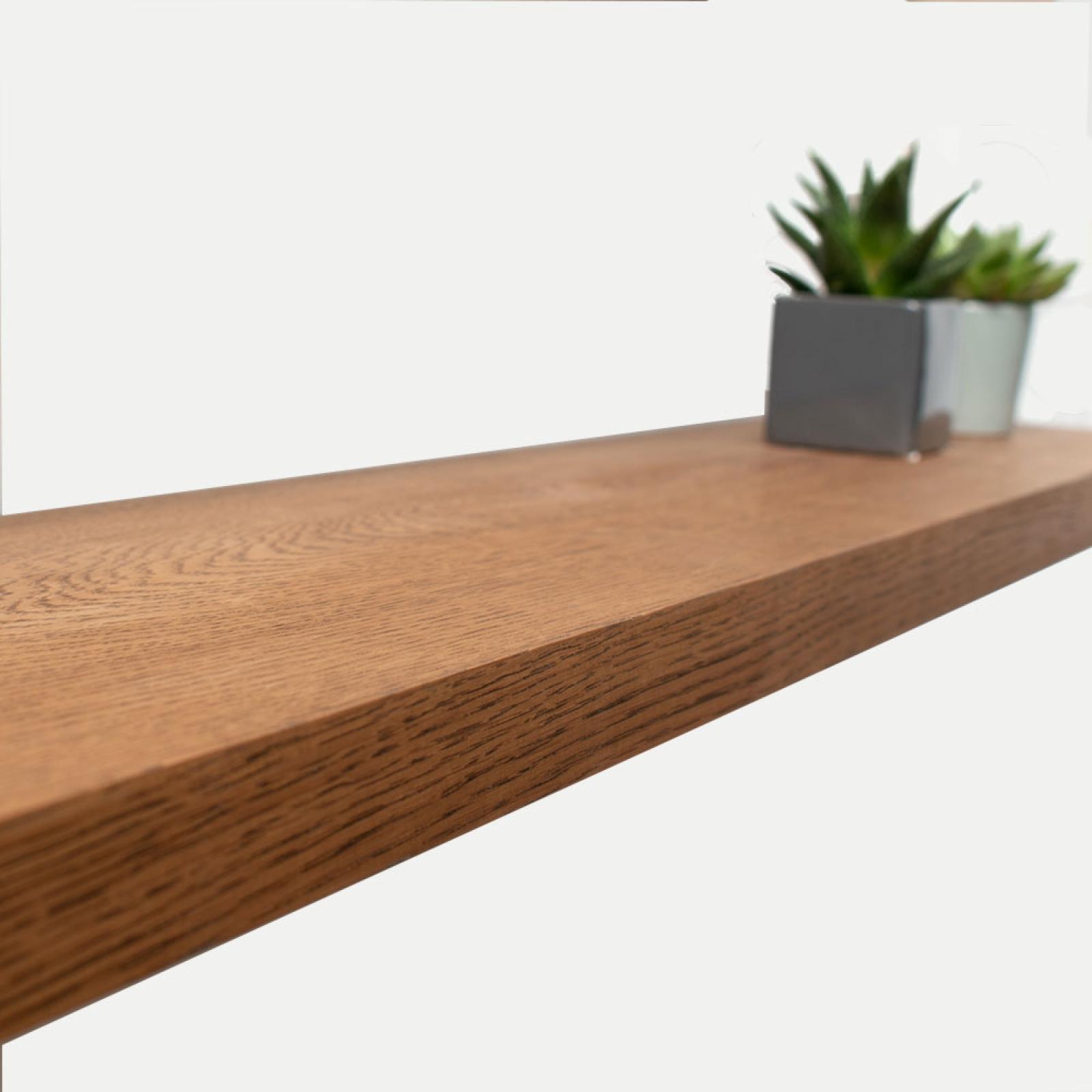 dar oak floating shelf