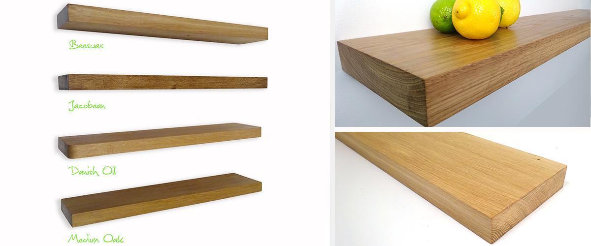 buy online 29a9d eb9ad 80cm x 15cm x 44mm Solid Oak shelf