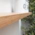 24 mm front edge floating oak shelf
