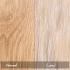 natural and limed oak floating shelf finishes