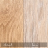 natural and limed oak finishes