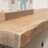 rustic floating pine shelf front left