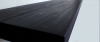 black floating shelf close up